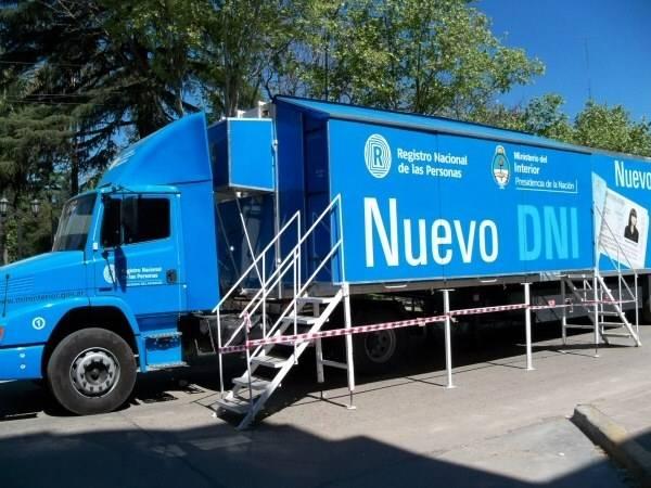Este fin de semana arribará a nuestra ciudad el camión para realizar trámites del Registro Nacional de las Personas.