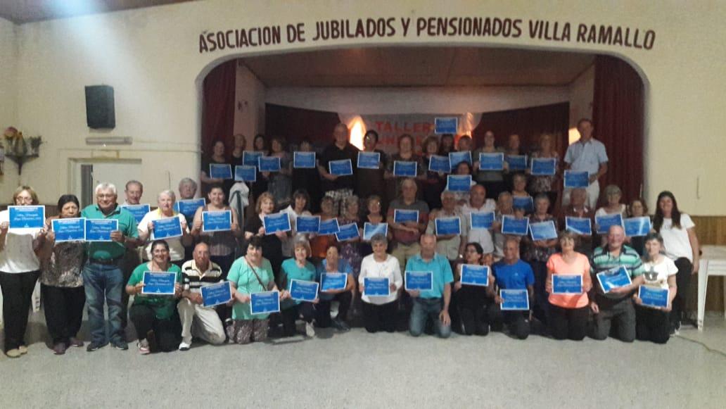 En el Centro de Jubilados de Villa Ramallo se desarrolló el cierre  anual de los talleres de deportes de la tercera edad.