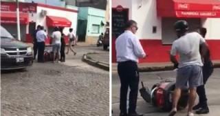 San Nicolás: le pegó a su esposa policía ante la mirada e indiferencia de los compañeros