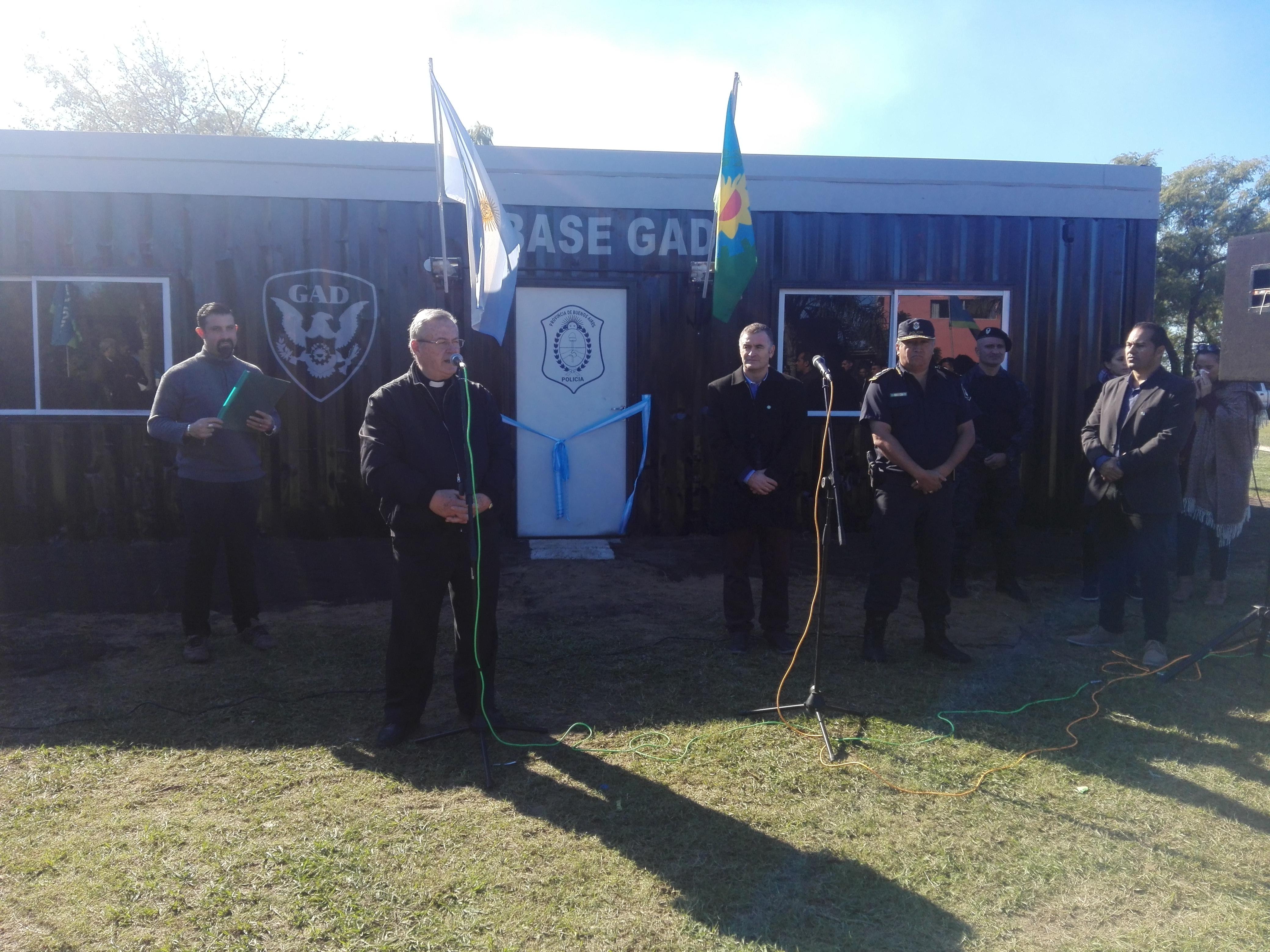 """Inauguraron en el Paseo """"Viva el Río"""" las instalaciones del Grupo de Apoyo Departamental (GAD) en Ramallo. Esta fuerza complementa al trabajo de la Policía Comunal y prestará servicio en todo el distrito."""