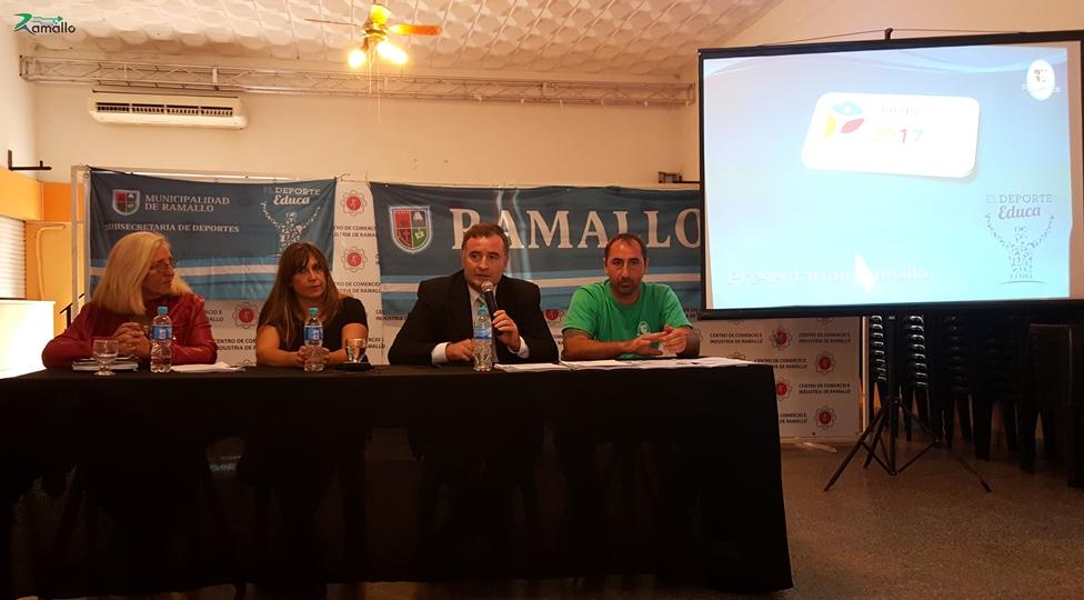 El Municipio de Ramallo desde el año pasando viene acompañando a cada institución deportiva con gran compromiso para que los jóvenes y los adultos mayores tengan la posibilidad de participar de los Juegos Bonaerenses con más recursos.