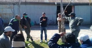 Lescano visitó el corralón de Villa Ramallo