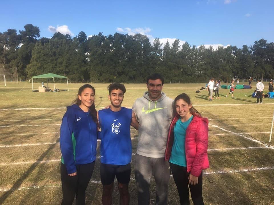 Los atletas del CEF N° 60 tuvieron una destacada participación en el Provincial de Pruebas Combinadas desarrollado en San Andrés de Giles.