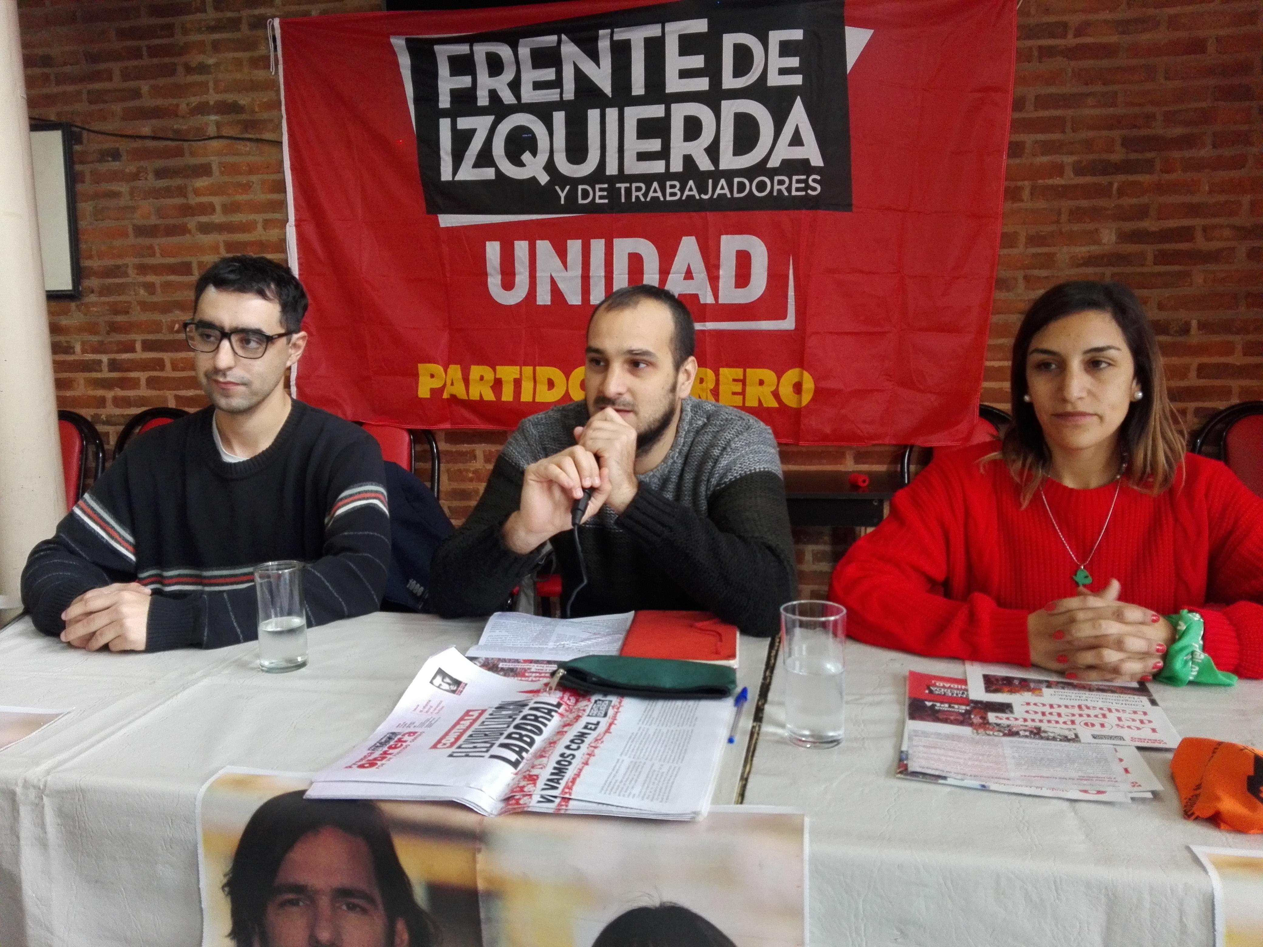 El Frente de Izquierda-Unidad de Ramallo realizó la presentación de sus precandidatos a intendente y concejales de cara a las PASO del 11 de agosto.