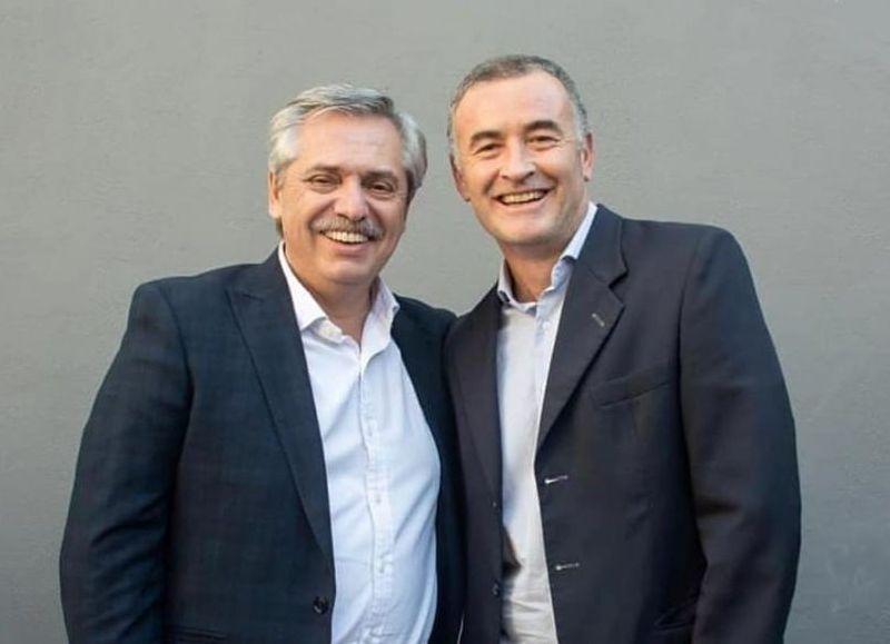 Alberto Fernández y Mauro Poletti.