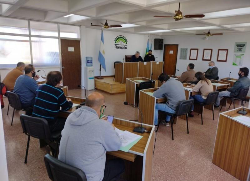 Encuentro en el recinto del Concejo Deliberante.