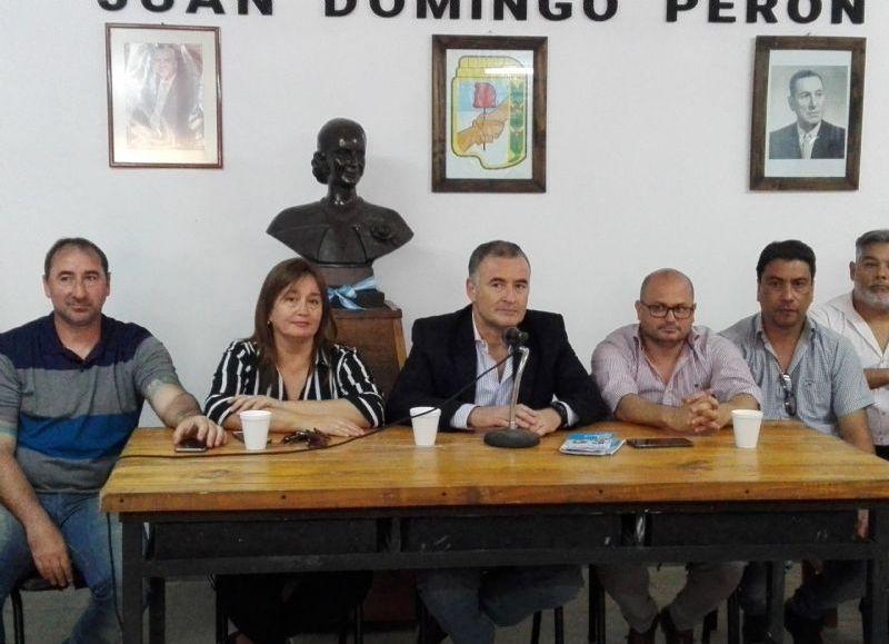 Conferencia de prensa del intendente Mauro Poletti.