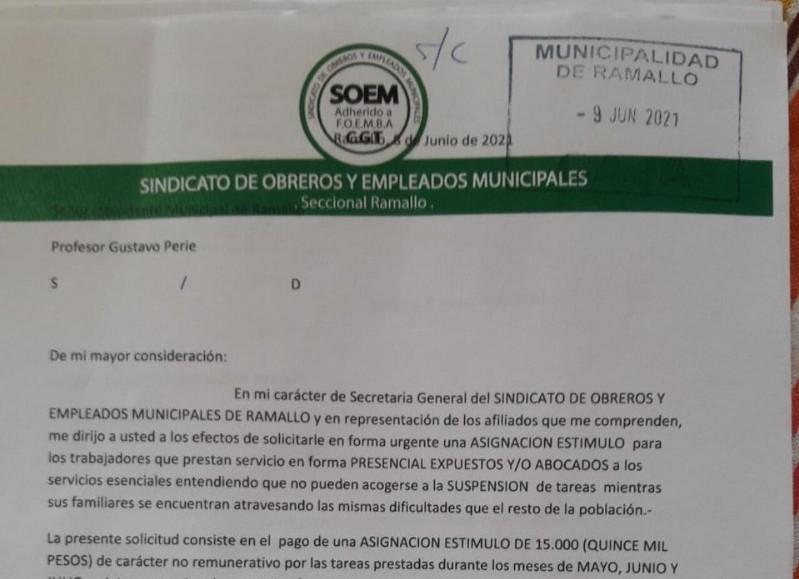 Carta al intendente.