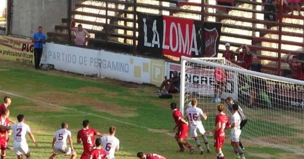 El gol llegó sobre el final del partido.