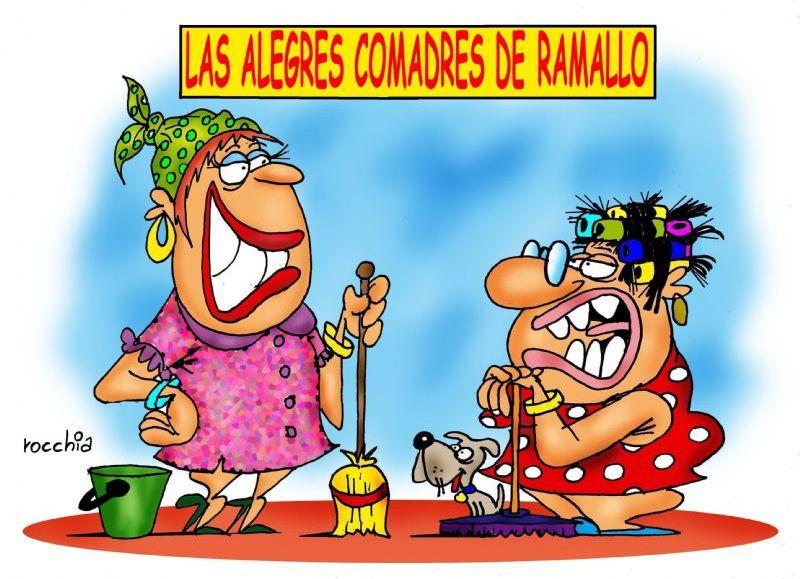 Las alegres comadres de Ramallo. (Dibujo: Ramallo Ciudad)