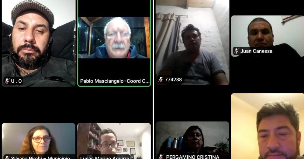 Un pasaje de la videoconferencia.