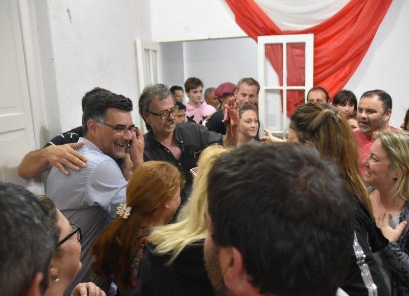 Festejos de la oposición.
