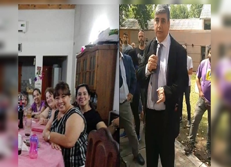 La comisario Lucía Orué y el comisario Inspector Carlos Barral.