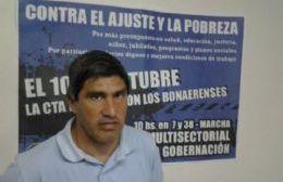 Adrián Lescano, titular de ATE Ramallo.