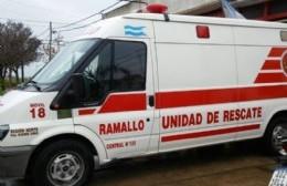 Accidente entre una moto y una camioneta en Villa Ramallo