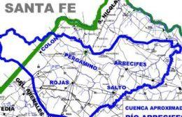 La cuenca hidráulica del Río Arrecifes involucra una superficie cercana a las 1.100.000 hectáreas.