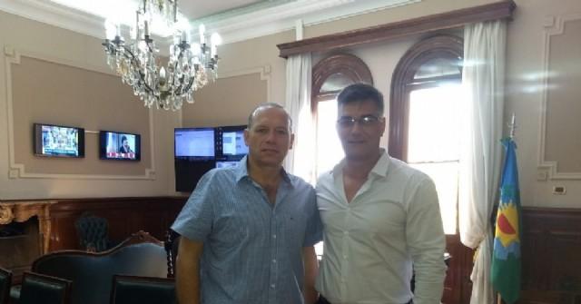 Perie visitó al ministro Sergio Berni