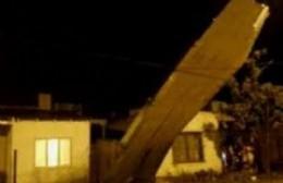 Temporal: se voló el techo de una casa en Ramallo