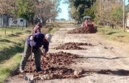 Reparación de calles en el Paraje Las Bahamas