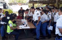 Acto en el Cuartel de Bomberos de San Nicolás.