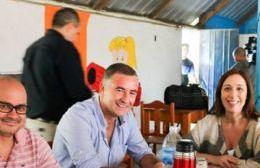 """Vidal y Poletti en el club Camping """"Héctor Flocco"""""""