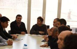 Reunión de trabajo entre Poletti y Axel Kicillof