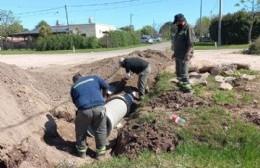 Obras de ensanche en calle Irigoyen