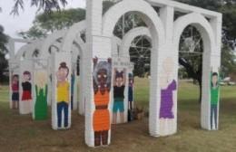 Realizaron un mural para visibilizar la violencia contra la mujer