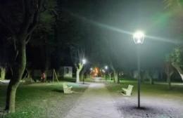 La Plaza San Carlos Borromeo ya cuenta con nuevas luminarias