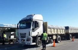 Pesaje a camiones en la ruta