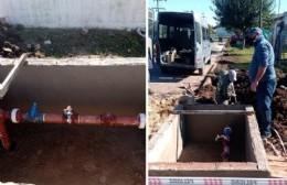 Última etapa de la obra de la bomba de agua en Villa General Savio