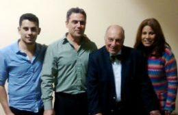 Emanuel Duarte (segundo consejero escolar), Fabrizio Lanzilliotta (primer concejal), Julio Cruciani (senador nacional) y Susana Belan (segunda diputada provincial).