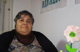 Nora Oliveros, secretaria adjunta de ATE Seccional Arrecifes, Salto y Ramallo.