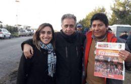 Néstor Pitrola estuvo con los trabajadores de Bio Ramallo