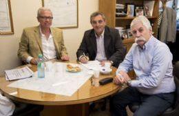 Marcelo Pacifico mantuvo una  reunión con Armando Lenguitti y Roberto Zucarelli, presidente de CELP.