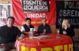 Néstor Pitrola acompañó a los candidatos locales del PO
