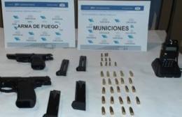 Secuestran armas de fuego en Pérez Millán