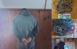 Detenido por el robo de cables
