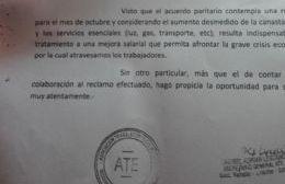 "ATE solicita la ""urgente"" reapertura de la paritaria"