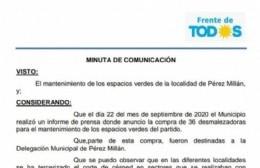 El Frente de Todos quiere saber qué paso con las motoguadañas del municipio