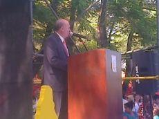 El intendente fue el �nico orador.