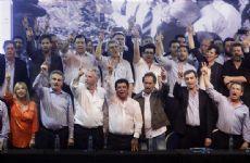 El peronismo bonaerense, con el refuerzo de varios candidatos presidenciales, durante la celebraci�n del d�a de la lealtad en Moreno